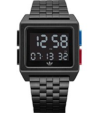 c66a72294add Archive M1 36mm Reloj digital cuadrado estilo retro color negro