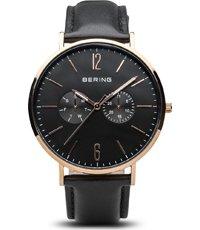 Reloj Negro Correa De 40mm Cuarzo Classic Piel Con Adicional 5RjAq3Lc4S