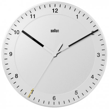 Braun Wall Clock Quartz Reloj