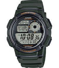 AE-1000W-3AVEF World Time 43.7mm