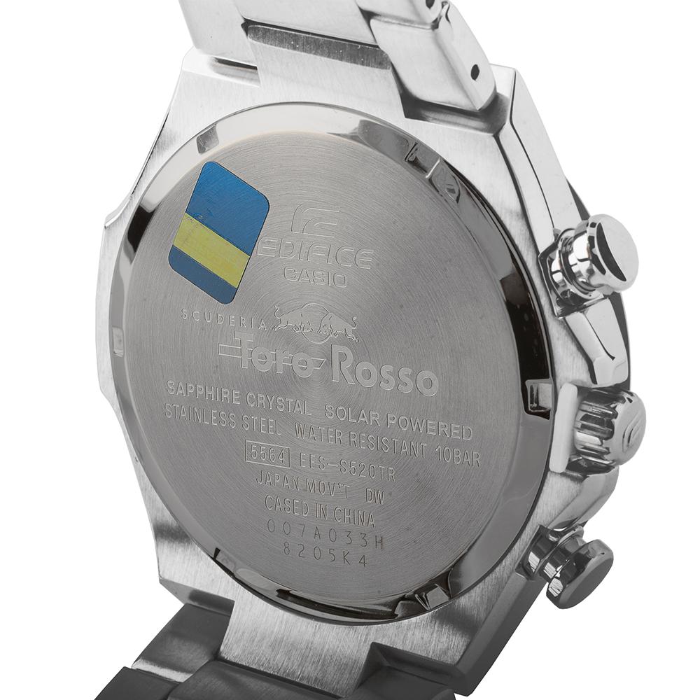68c30913ae22 Reloj Plateado Quartz Chronograph. Reloj Solar edición limitada con esfera  de fibra de carbon Colección Primavera-Verano Casio Edifice
