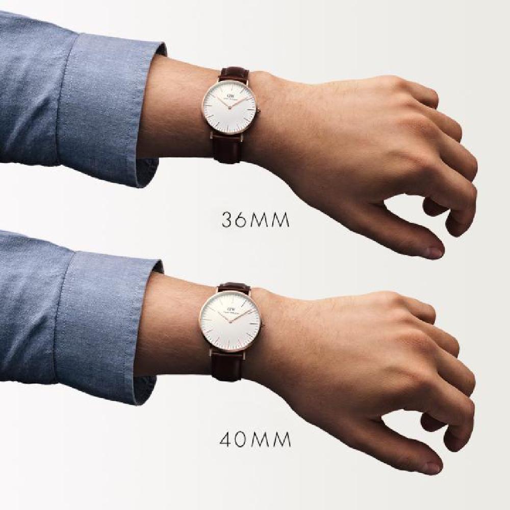 5aa78096223c Reloj en oro rosado con correa de piel marrón Colección Primavera-Verano Daniel  Wellington