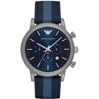 AR1949 Luigi XLarge 46mm Reloj Cronógrafo color Azul con Fecha