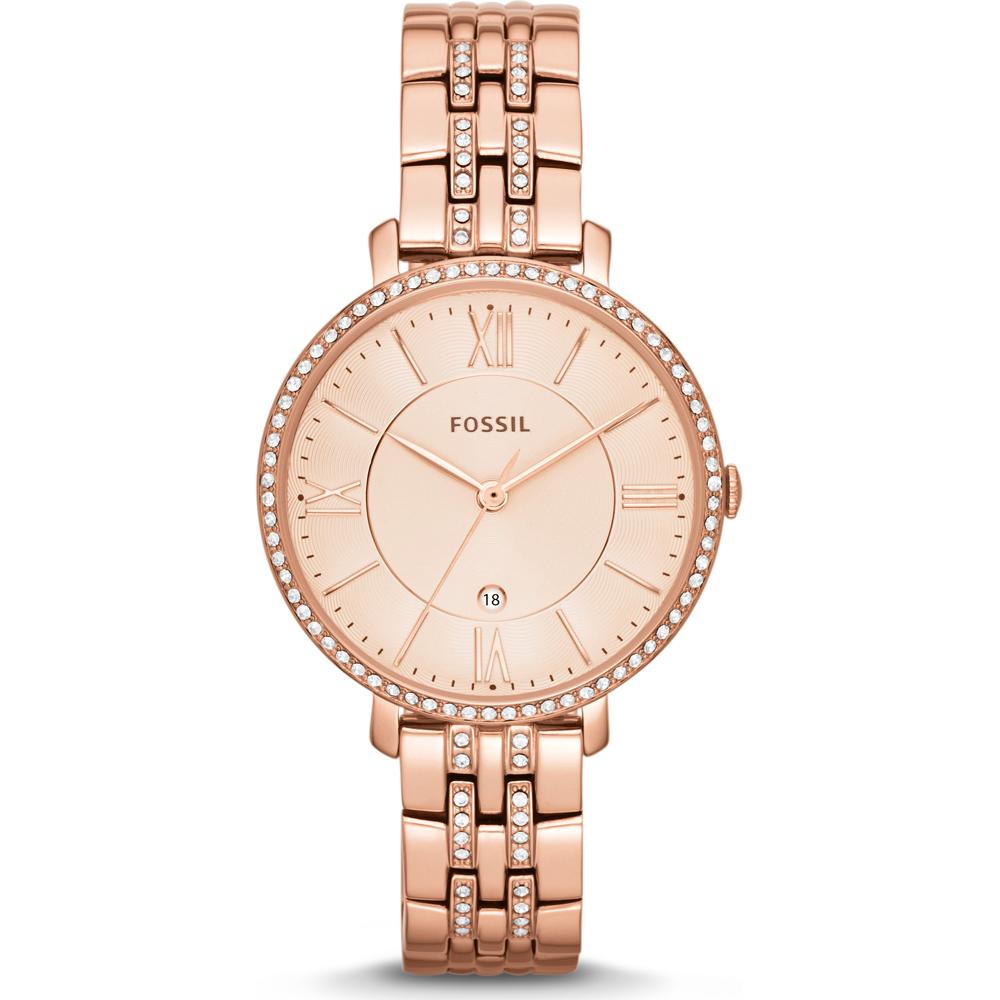 Jacqueline 36mm Reloj de cuarzo dorado rosa para dama con fecha