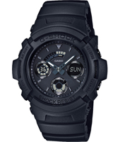 AW-591BB-1AER Black Out Basic 46.60mm Reloj G-Shock analogico-digital color negro