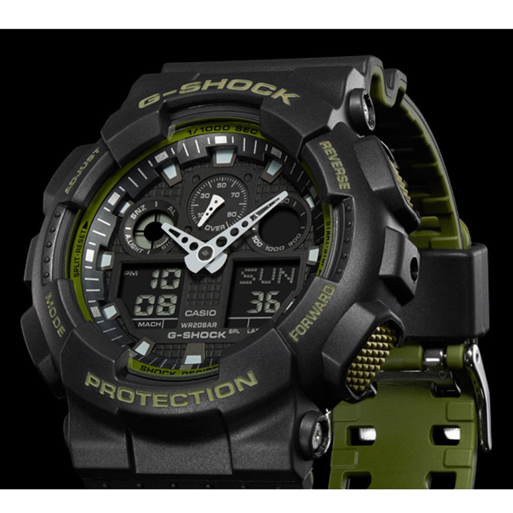 ce23d943b4f9 Reloj G-Shock Classic Style GA-100L-1AER Layered Color • EAN ...