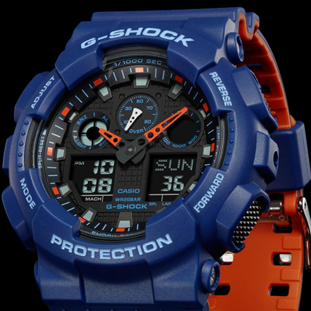 b97fa34bd399e Reloj G-Shock Classic Style GA-100L-2AER Layered Color • EAN ...