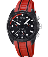 18159/5  43mm Black & Red Sports Chronograph