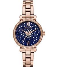 Cristales Dorado Con De Cuarzo Rosa 36mm Azul Sofie Reloj 5ARq4j3Lc