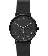 Aaren 41mm Black aluminium watch with small second dial