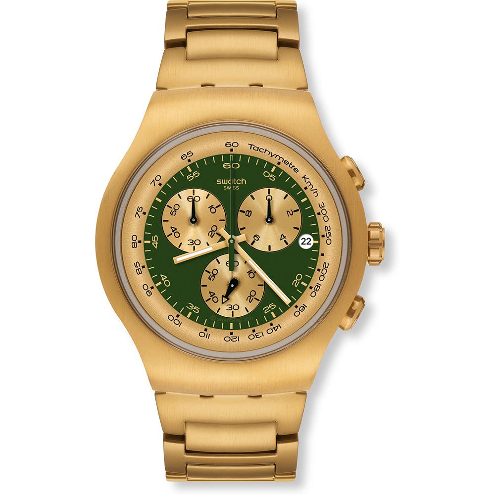 Yog406g Reloj Irony Green Swatch • Golden Block Ean7610522285262 lKF1TJc
