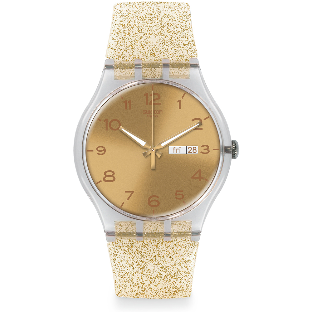 Swatch Los Originales SUOK704 Golden Sparkle Reloj