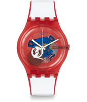 SUOR102 Red White & Blue - Clownfish Red 40.80mm Reloj New Gent