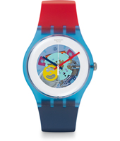 SUOS101 Red White & Blue - Color My Lacquered 41mm Reloj New Gent Lacquered