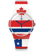 SUOW111 Red White & Blue - Flagtime 41mm Reloj New Gent