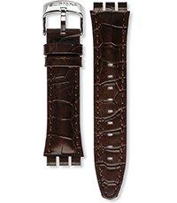 d34178e6372d YVS400 Browned 21mm Correa de piel marrón