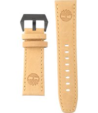 14841J Paxton 22mm Correa de piel beige con logo Timberland