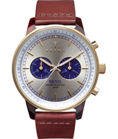NEAC109 Nevil Chrono 42mm cronógrafo color plateado/dorado/azul